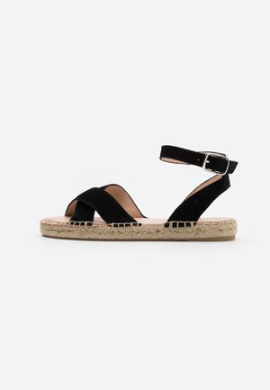 LEATHER - Espadrillos - black