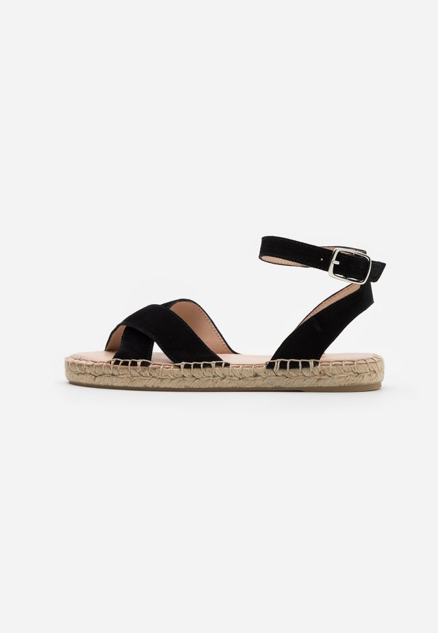 LEATHER - Espadrille - black