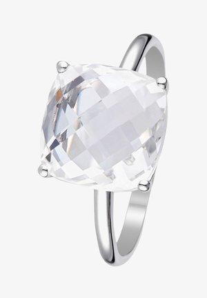WHITE GOLD RING 9K CERTIFIED WHITE TOPAZ 5.5 CTS - Ring - white