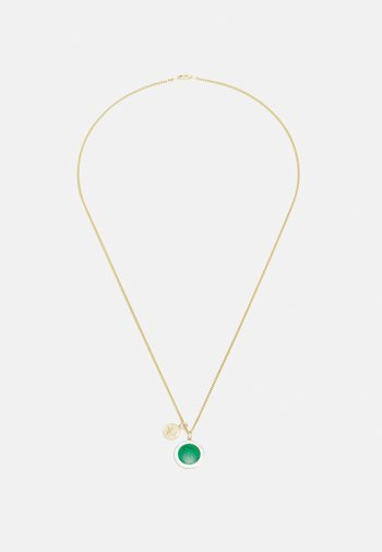 CHRISTOPHER SURF NECKLACE UNISEX - Necklace - emerald green/white