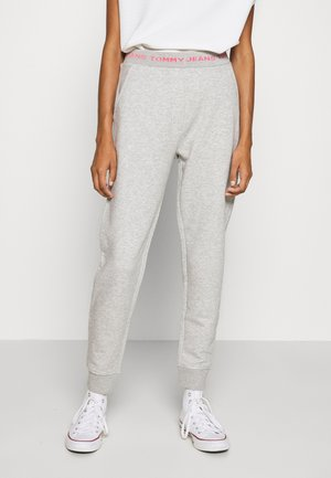 LOGO - Pantalones deportivos - light grey heather