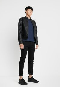G-Star - 3301 SLIM FIT - Slim fit jeans - elto nero black superstretch/pitch black - 1