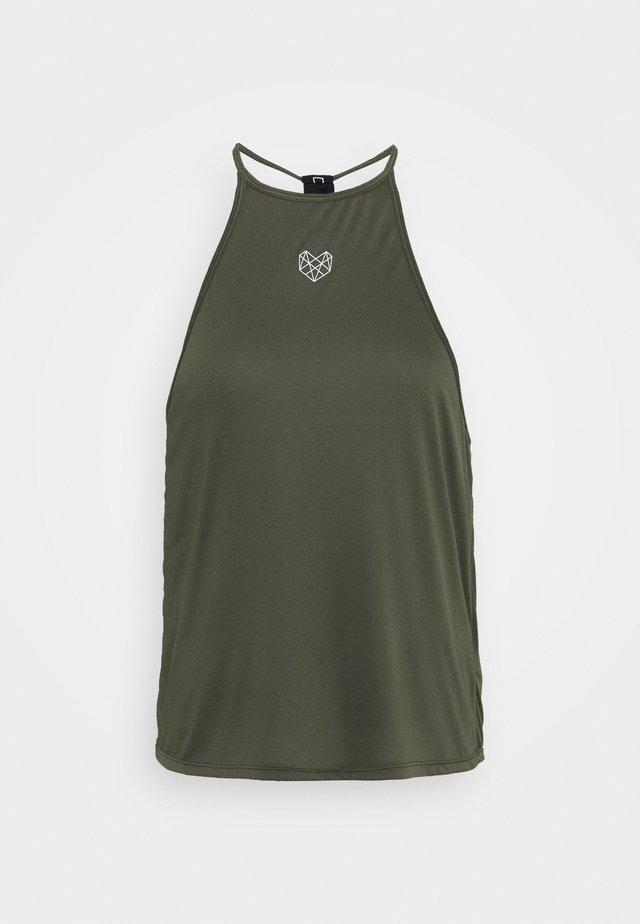 CLARK TANK - T-shirt sportiva - khaki