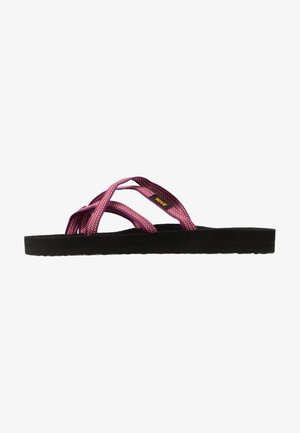 OLOWAHU  - T-bar sandals - antiguous red/plum