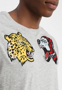 Brave Soul - Print T-shirt - grey - 4