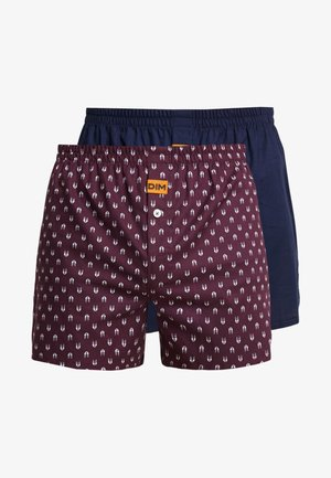 LOOSE 2 Pack - Boxershort - dark blue/red