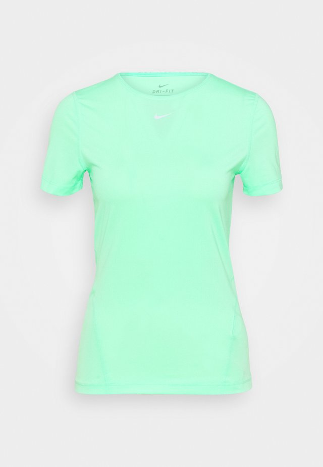 ALL OVER - T-shirt basique - green glow/white