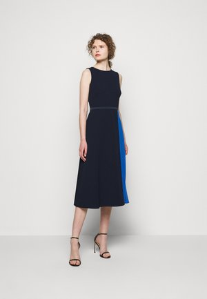 LUXE TECH 2-TONE DRESS - Day dress - navy/boysenber