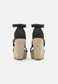 Rubi Shoes by Cotton On - BRADY WEDGE  - Platform sandals - black - 3