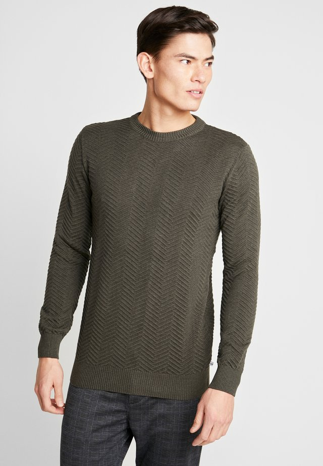 CARLO - Pullover - army melange