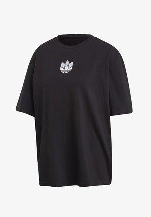 ADICOLOR 3D TREFOIL - T-shirt z nadrukiem - black