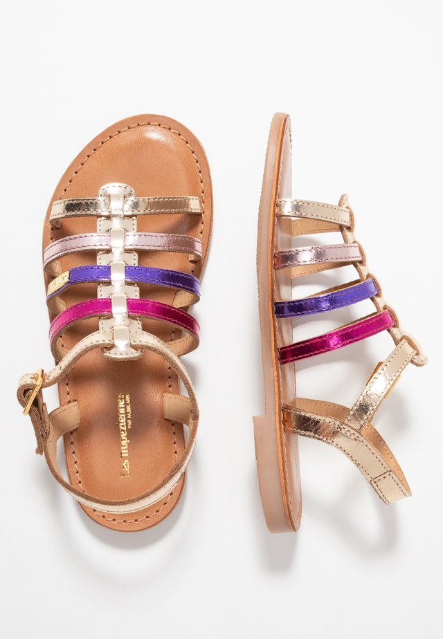 MONGUE - Sandals - gold/multicolor