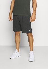 Nike Performance - DRY FIT - Pantalón corto de deporte - black heather - 0