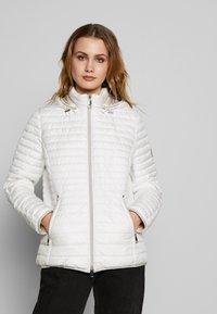 Barbara Lebek - STEPP MIT KAPUZE - Light jacket - offwhite - 0