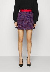 NIKKIE - SINCLAIR SKIRT - Mini skirt - rough red - 0