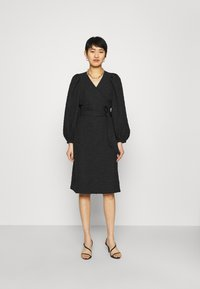 JUST FEMALE - TODA WRAP DRESS - Day dress - black - 0