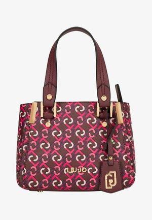 WITH LOGO CHARM - Handbag - purple