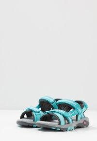 TrollKids - GIRLS PREIKESTOLEN - Walking sandals - mint/grey - 3
