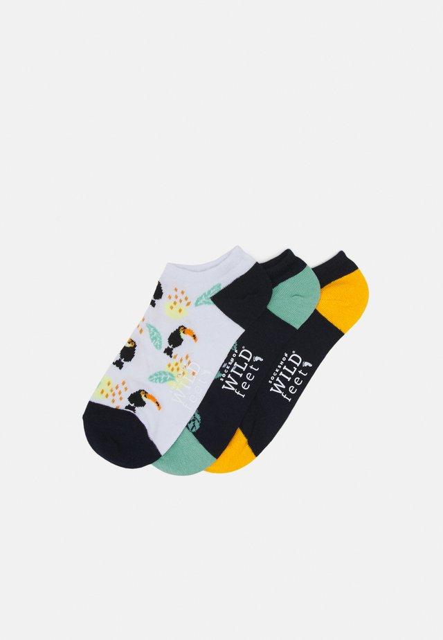TOUCAN TRAINER SOCKS 3 PACK - Socken - dark blue/white