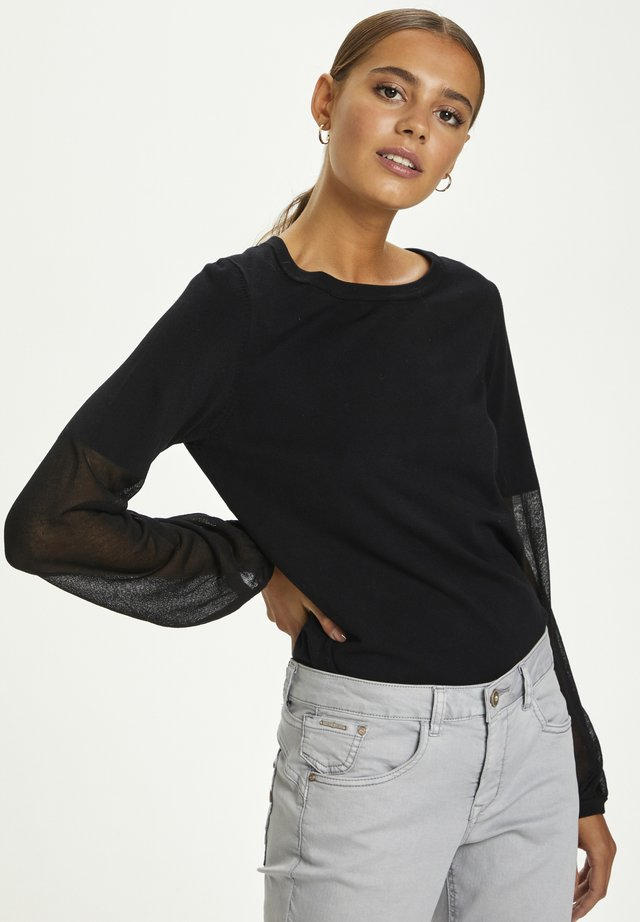 Sweter - pitch black