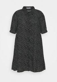 Glamorous Curve - MINI DRESS WITH COLLAR - Shirt dress - black - 4