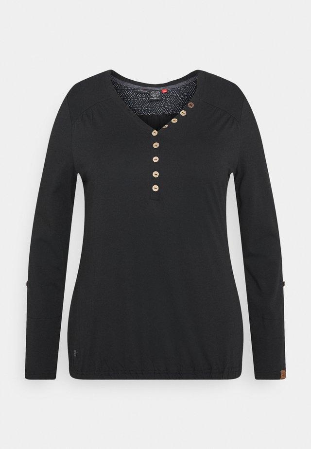 PINCH SOLID PLUS - T-shirt à manches longues - black