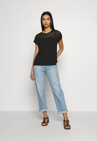 Vero Moda - VMSOFIA LACE TOP - T-shirt basic - black - 1