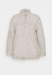 New Look Curves - ZIP - Fleece jumper - light grey - 0