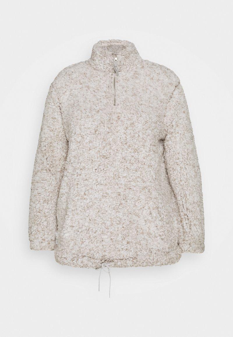 New Look Curves - ZIP - Fleece jumper - light grey