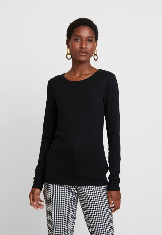 CREW - Long sleeved top - true black