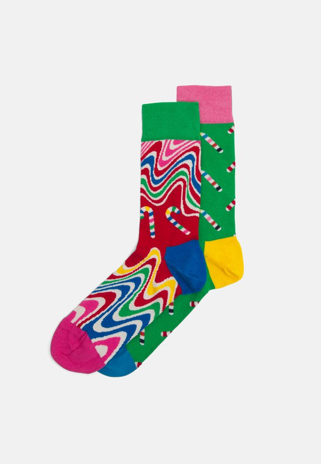 PSYCHEDELIC CANDY CANE CREW SOCKS 2 PACK - Calze - multi-coloured