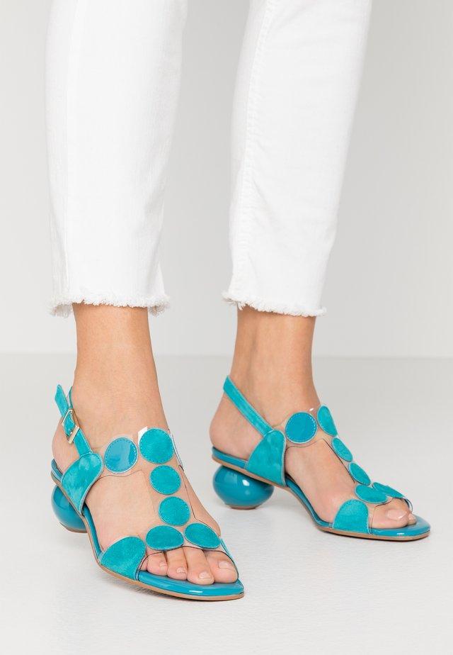 ERIKA NEW - Sandaalit nilkkaremmillä - blue