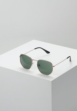 IAN - Sunglasses - gold-coloured/green