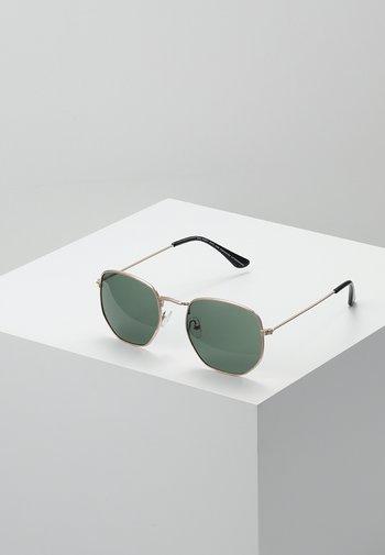 IAN - Sunglasses - gold-coloured/green