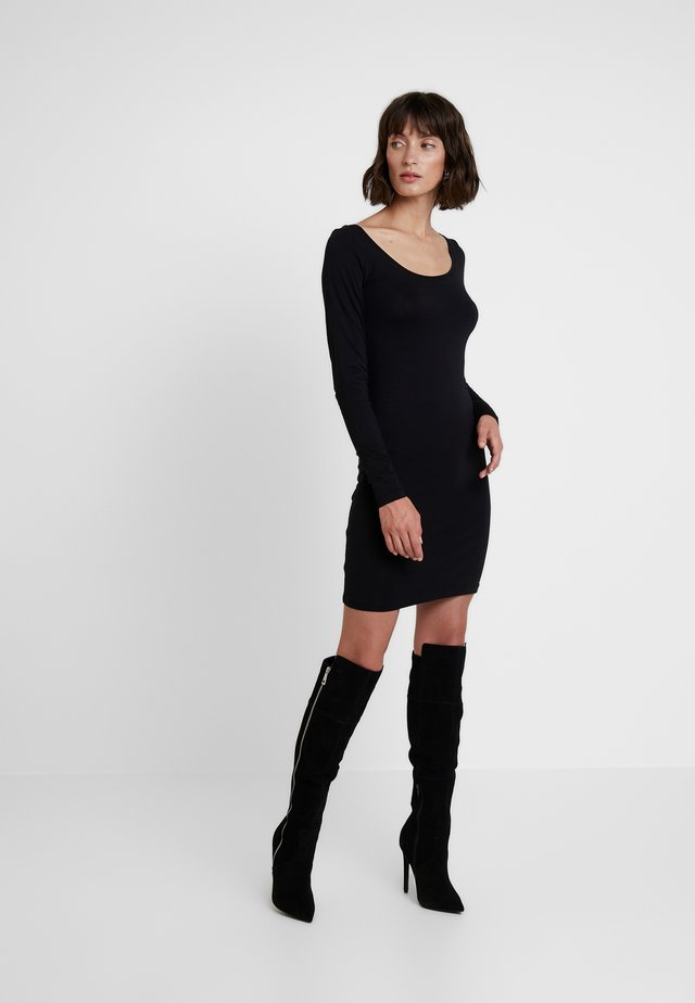 SIK LONG SOLID - Shift dress - black