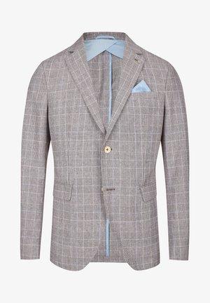 MIT GLENCHECK-MUSTER - Blazer jacket - sand