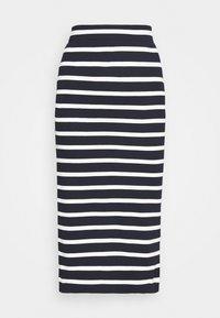 GANT - BRETON STRIPE SKIRT - Pencil skirt - evening blue - 5