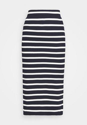 BRETON STRIPE SKIRT - Pencil skirt - evening blue