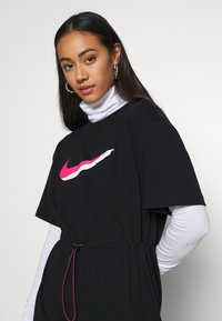 Nike Sportswear - DRESS - Jersey dress - black/white - 3