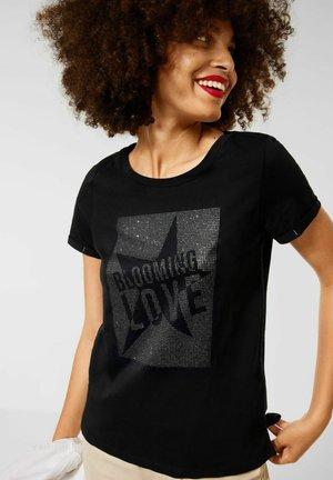 MIT SCHRIFT PRINT - Print T-shirt - schwarz