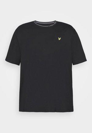 PLUS BRANDED RINGER - Basic T-shirt - jet black
