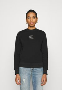 Calvin Klein Jeans - CUT OUT BACK  - Sweatshirt - black - 0