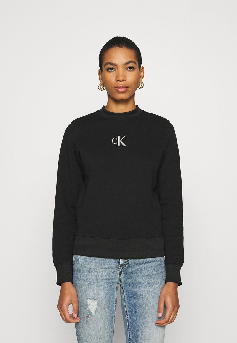 Calvin Klein Jeans - CUT OUT BACK  - Sweatshirt - black
