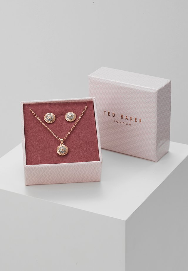 EMILLIA MINI BUTTON GIFT SET - Korvakorut - rose gold-coloured