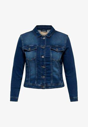 CURVY JOGG - Denim jacket - dark blue denim