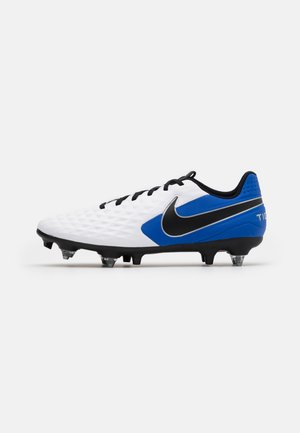 TIEMPO LEGEND 8 ACADEMY SG-PRO AC - Screw-in stud football boots - white/black/hyper royal/metallic silver