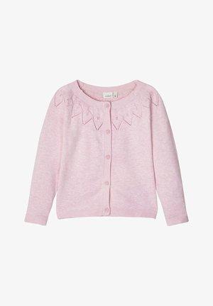 STRICKJACKE BAUMWOLL - Vest - pink nectar