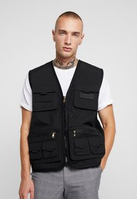 Glorious Gangsta - SOLOMON UTILITY VEST - Väst - black - 0