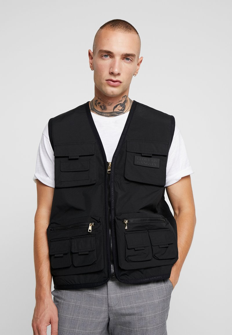 Glorious Gangsta - SOLOMON UTILITY VEST - Väst - black