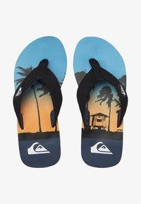 Quiksilver - MOLOKAI LAYBACK  - T-bar sandals - black/blue/blue - 1
